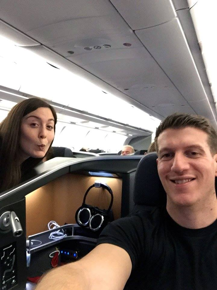 honeymoon in business class